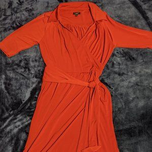 Vintage-Style Red Dress with Sash (Talbots)